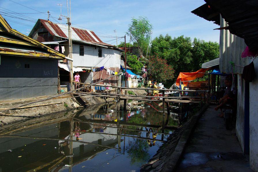 An urban informal settlement in Indonesia.