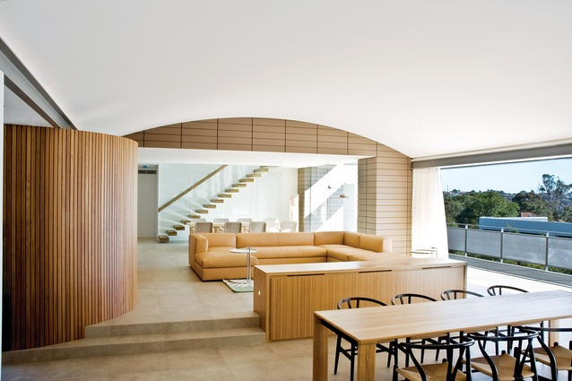 Mosman House: Softer colours and materials are used on the interior.