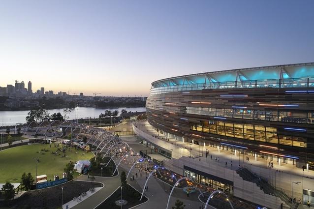 Optus Stadium by Hassell Cox HKS.