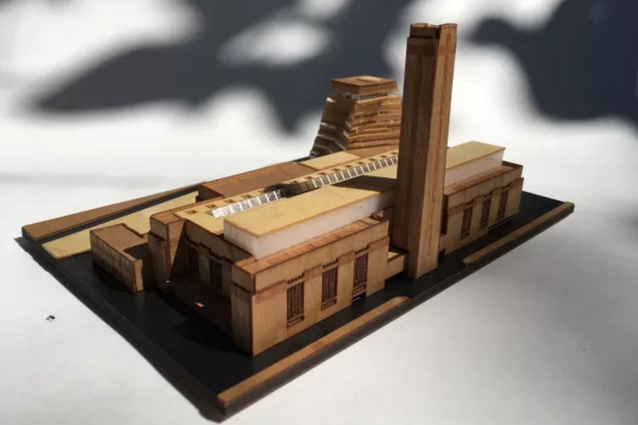 A prototype of the Tate Modern model kit produced by Little Building Co.