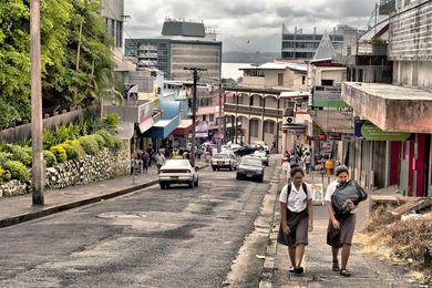 Street scene from Suva, Fiji, 2012.