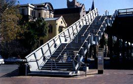 The new public stair, replacing the escalator. Image: Adrian Boddy
