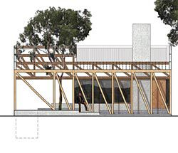 Elevation from Kerstin Thompson Architects' stage one entry, which went on to be the competition winner.