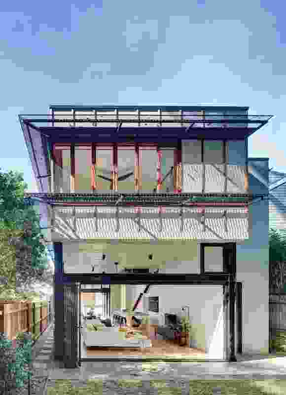 The new two-storey rear addition is generous in scale, but not out of place in its richly eclectic suburban context.