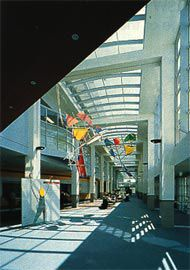 Photograph of the galleria at the New Children's Hospital.