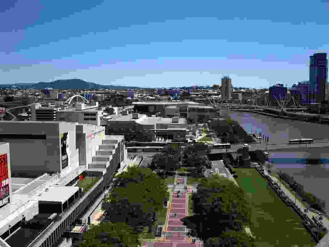 Brisbane's South Bank cultural precinct.