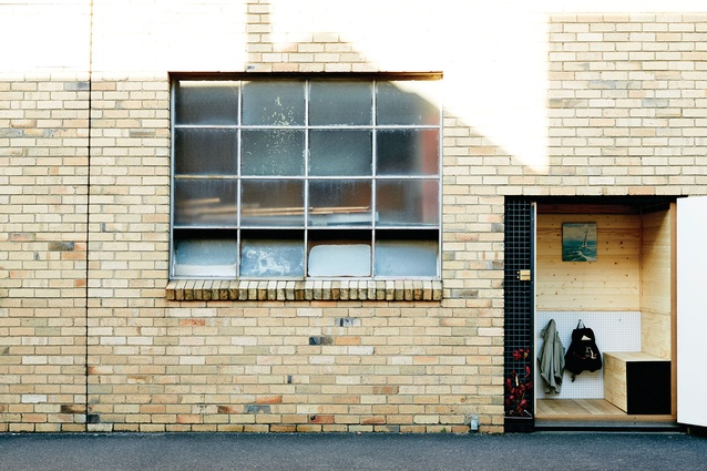 The Streetbox is housed within an unused doorway of an industrial building in Melbourne's Abbotsford.