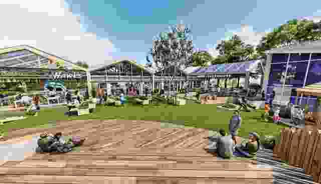 葡萄园社区中心由i2C Architects设计。