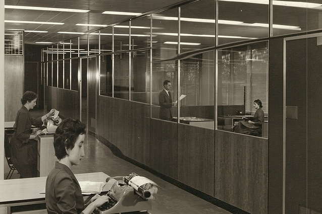 The original office fitout of ICI House by Bates Smart and McCutcheon.