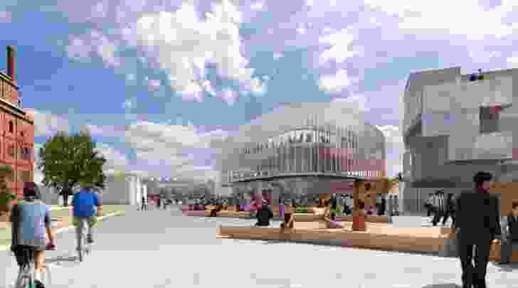 UTAS Launceston campus Willis Street Science and Innovation Hub concept by McBride Charles Ryan.