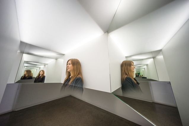An installation view of Enfolder (2016) by Natasha Johns-Messenger.