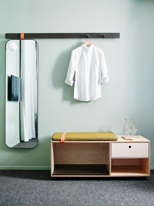 Bespoke storage units in the guest rooms were designed by Arent&Pyke and produced by Douglas and Bec.