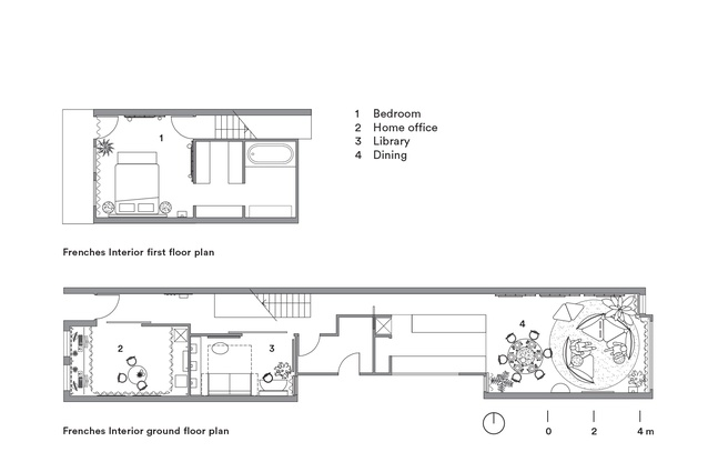 Plans of Frenches Interior by Sibling Architecture.