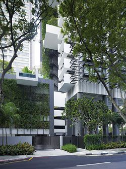 Entry from Khiang Guan Avenue showing the extensive greenery. Image:Tim Griffiths