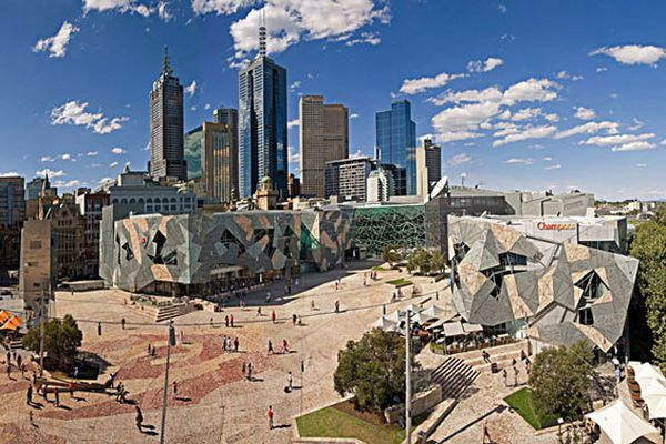 Federation Square by Lab Architecture Studio, Bates Smart and Karres and Brands.