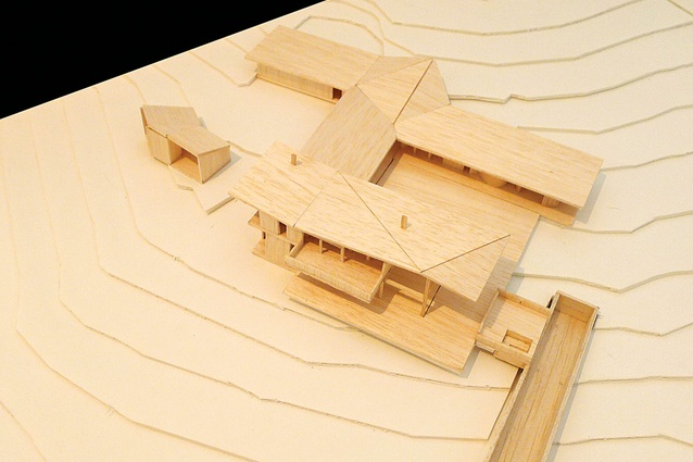 Byron Bay House (In progress): Aerial view of the house model.