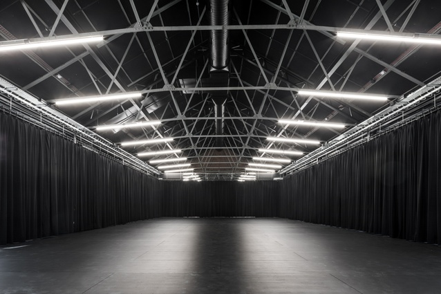 The former Riding Hall has been transformed into a performance space by Kerstin Thompson Architects.