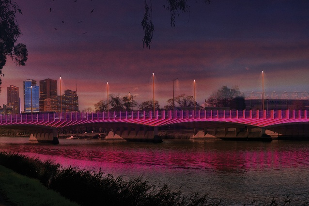 Design for Swan Street Bridge upgrade by BKK Architects.