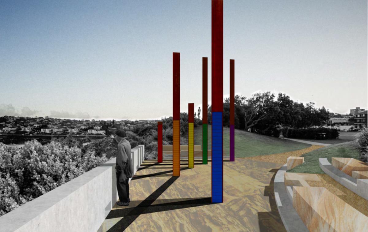 Bondi memorial proposal by Jane Irwin Landscape Architecture and McGregor Westlake Architecture.