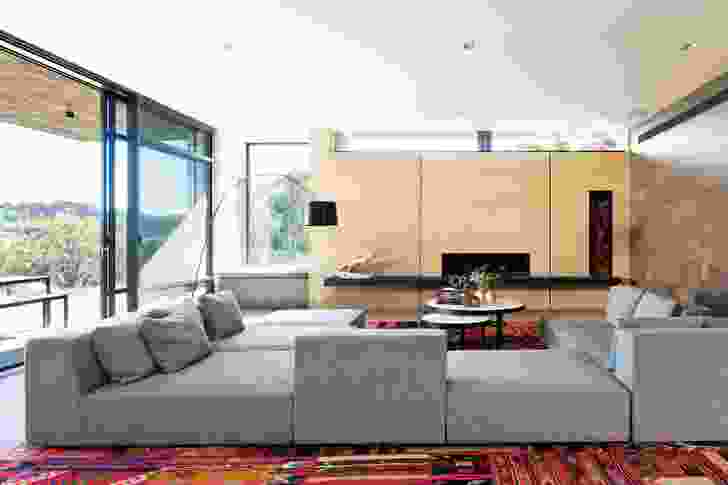 An interior palette of earth, glass, timber and concrete.
