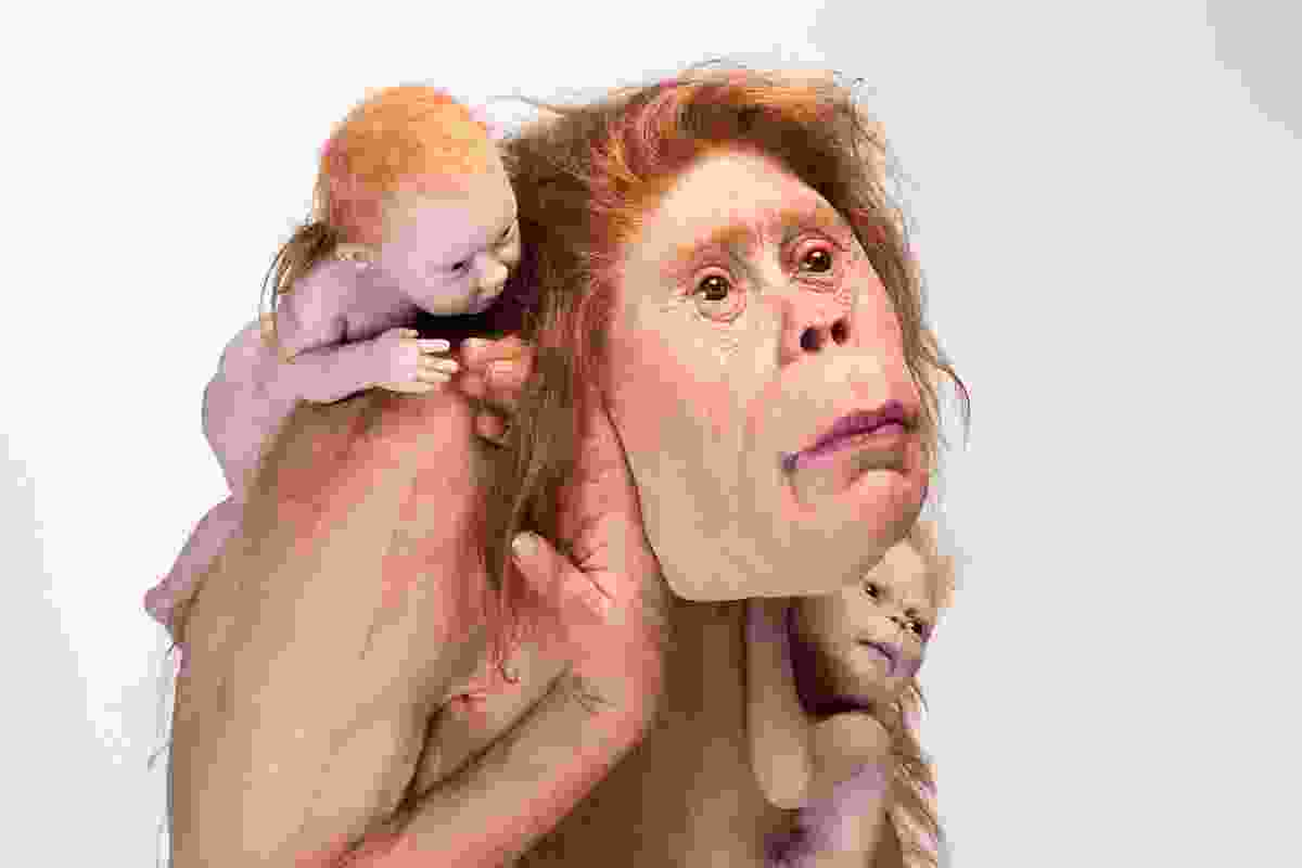 Patricia Piccinini, Kindred 2018, silicone, fibreglass and hair, 103 x 95 x 128 cm, The Michael and Janet Buxton Collection, Melbourne.