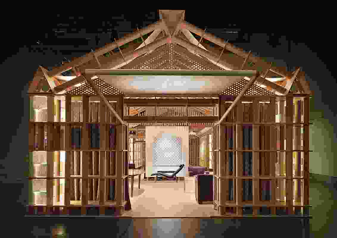 Hermes Home's Paper Pavilion was designed by Japanese architect Shigeru Ban.