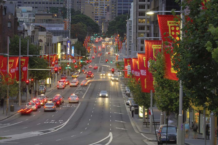 William Street, Sydney after the Cross City Tunnel project.