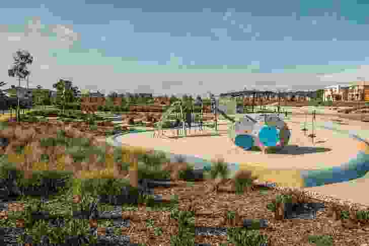 Play areas and active exercise spaces are provided for recreational use.