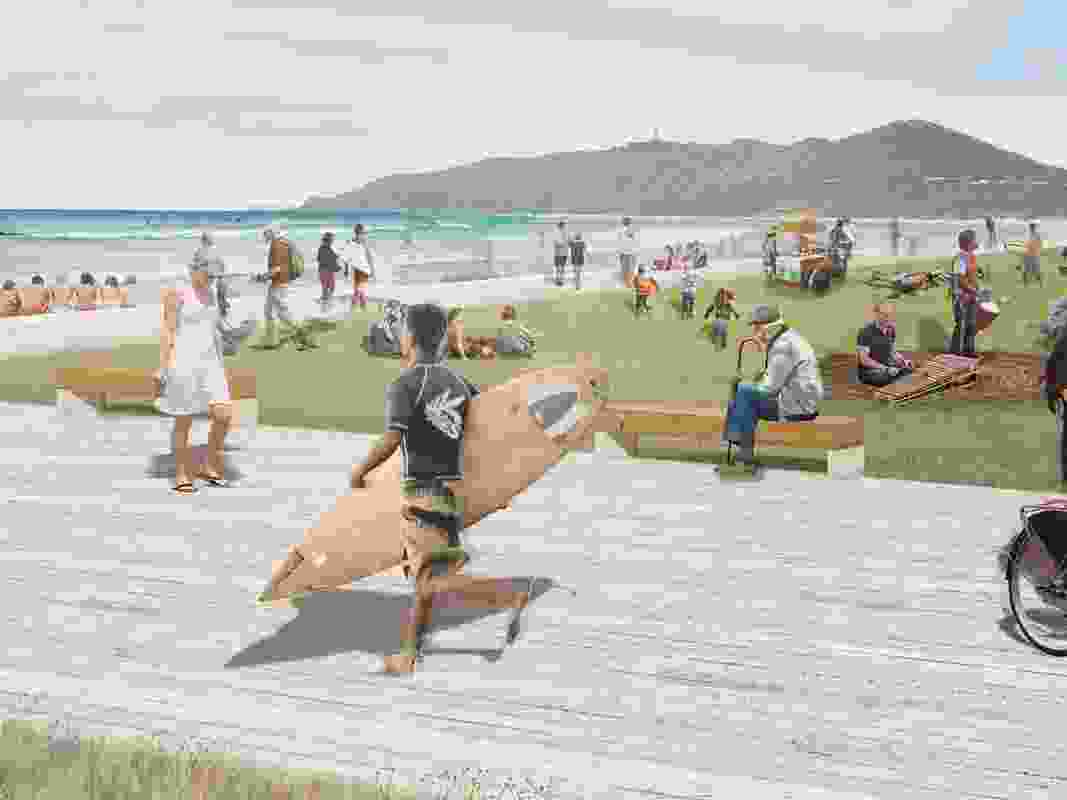 Main Beach would see its car parking reduced and a redevelopment of its surf life saving club.