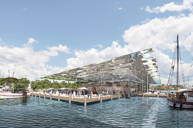 Sydney Fish Markets by Allen Jack and Cottier Architects.