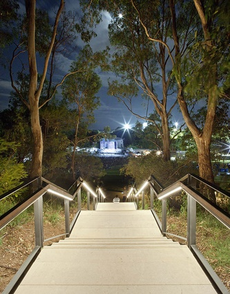 The Crescent, Parramatta Park by Context, Group GSA and Parramatta Park and Western Sydney Parklands Trusts.