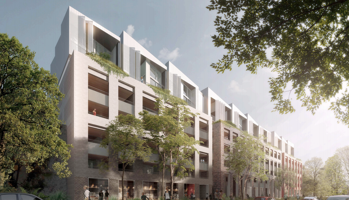 McEvoy Street apartments by Andrew Burns Architecture and PBD Architects.