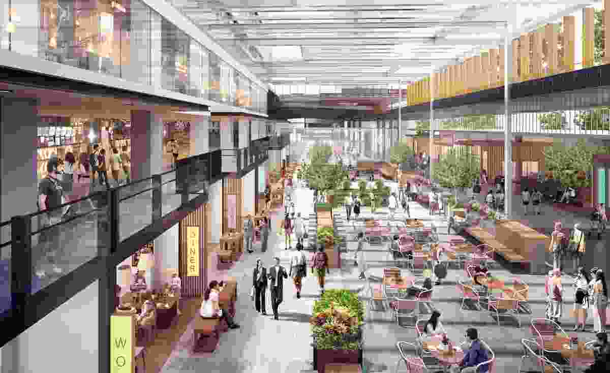 Designs for the food court above the Fortitude Valley railway station by Architectus.
