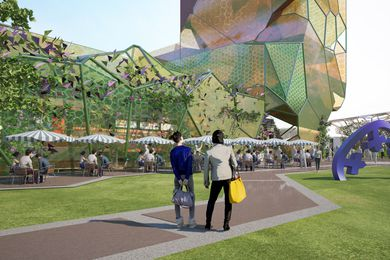 Design concept for the proposed gallery in the Gold Coast Cultural Precinct.
