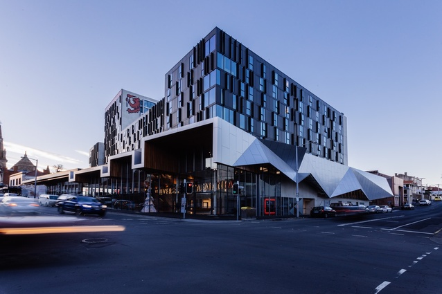 University of Tasmania City Apartments by Terroir and Fender Katsalidis, in association.