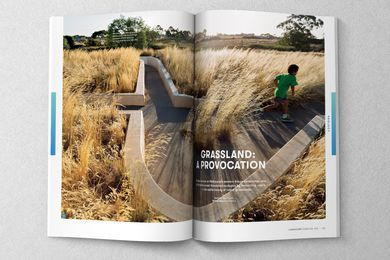 A spread from the November 2017 issue of Landscape Architecture Australia.