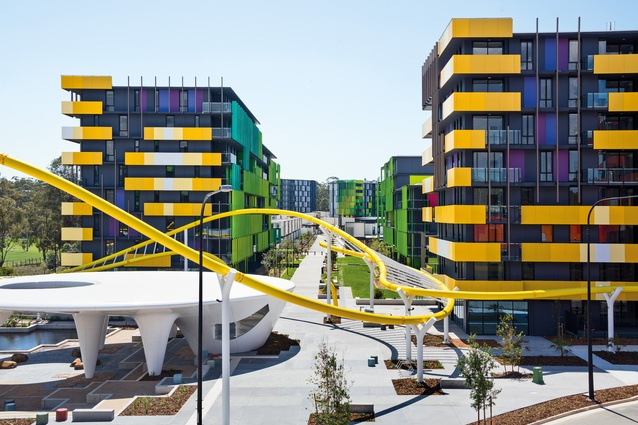 Taking cues from the pedestrian links common to many Latin cities, the <i>passeggiata</i> is intended to invite relaxed strolling among the housing blocks.