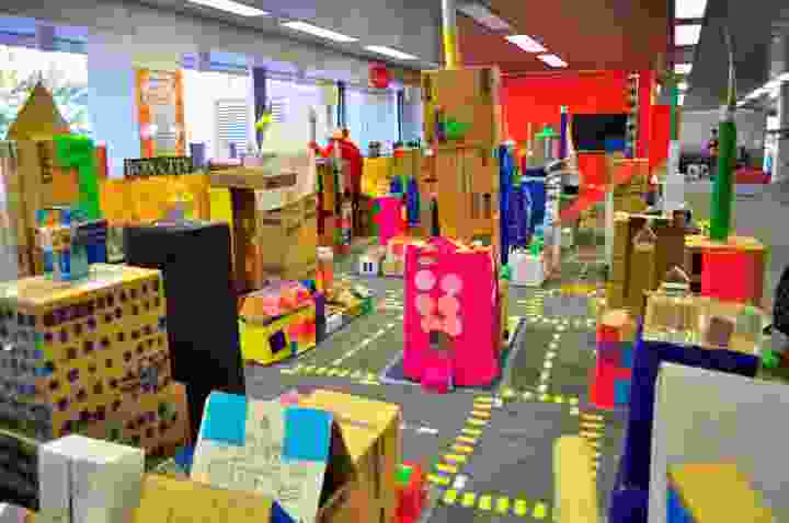 Perth Box City 2012: where children designed and constructed their own box city.