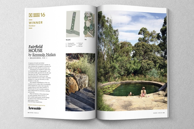 Winner of Outdoor and Sustainability: Fairfield House by Kennedy Nolan in collaboration with Sam Cox Landscape.