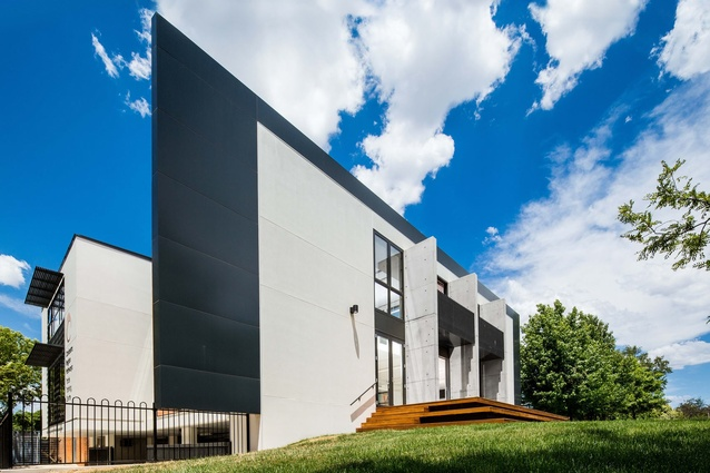 St Clare's College Trade Training Centre by Collins Caddaye Architects.