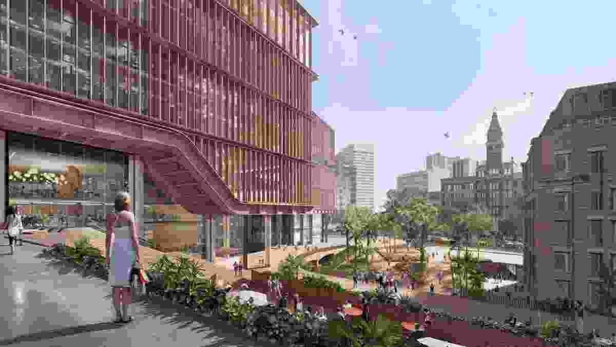 A reference design for Central Place Sydney, for which an architectural design competition is underway.