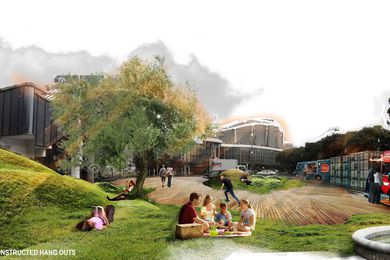 """Aftershock"", winning scheme of the This Public Space competition."