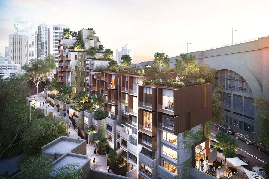 The proposed refurbishment of the Sirius social housing complex by BVN.