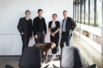 Jeremy Unger, Edmund Spencer, Victoria Judge and William Smart of Smart Design Studio