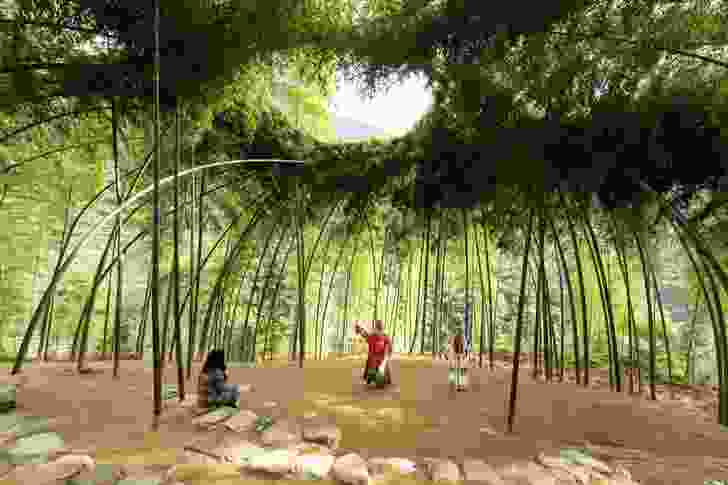 Bamboo Theatre by DnA Design and Architecture, whose director Xu Tiantian presented remotely from Beijing.