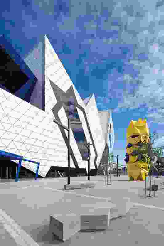 The Perth Arena has been built over the Perth–Fremantle railway line.