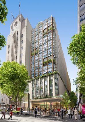 There Bourke Street view of the precinct, by Designinc.