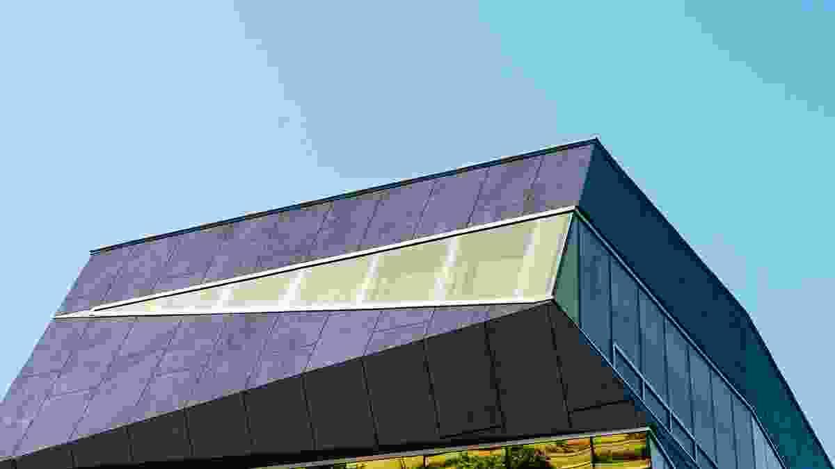 Barestone Graphite in an external application.
