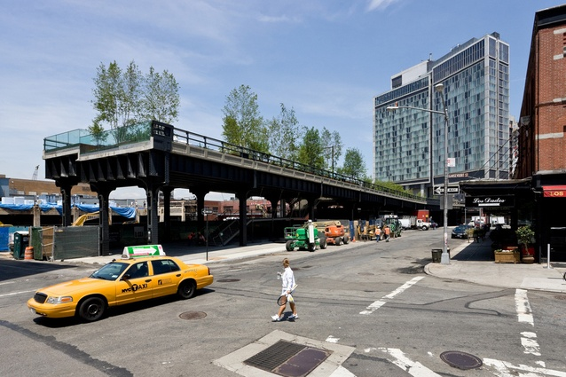 The Standard Hotel straddles The Highline at West 13<sup>th</sup> Street