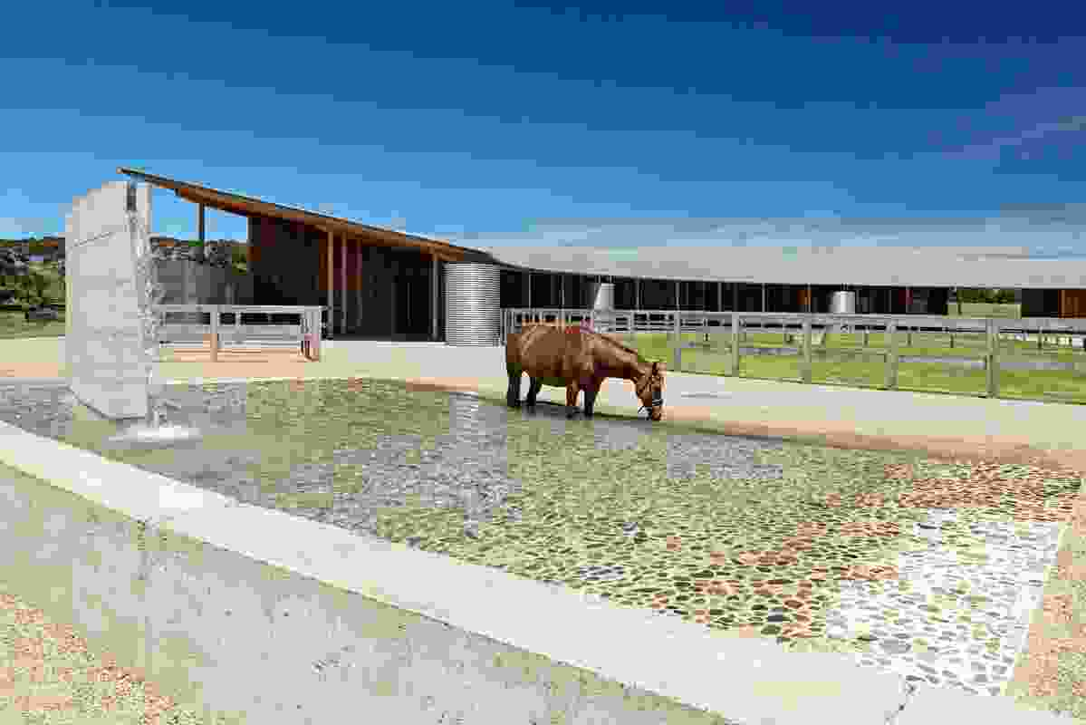 Equestrian Centre, Merricks (Vic) by Seth Stein Architects (London) in association with Watson Architecture + Design (Melbourne).